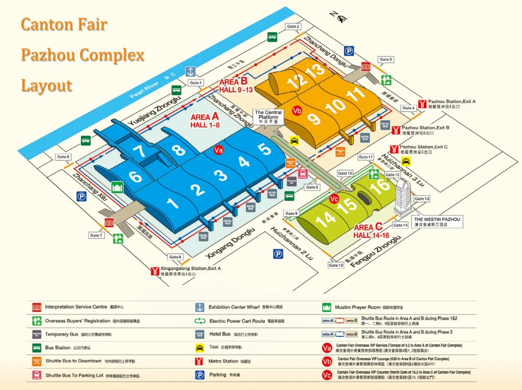 Canton Fair Map