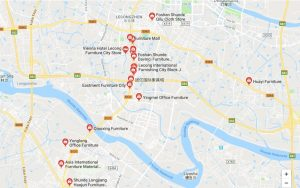 Foshan furniture markets map