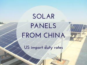 US duty rates on solar panels