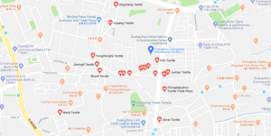 Guangzhou fabric markets map