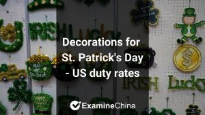 importing St. Patrick's Day decorations