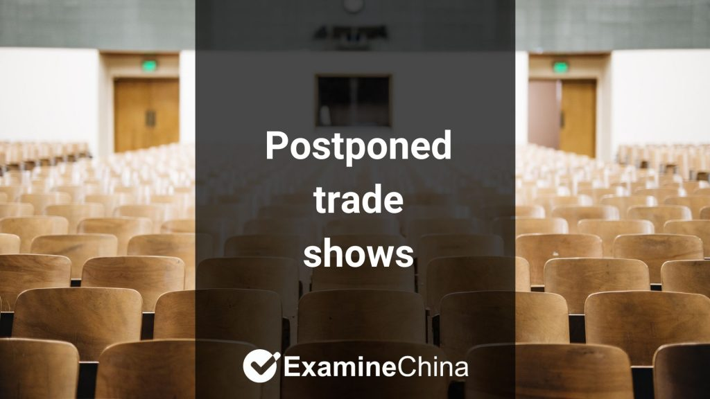 Postponed trade shows