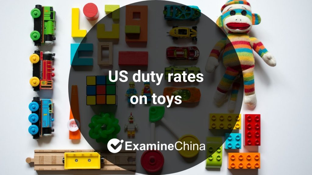 US duty rates on toys