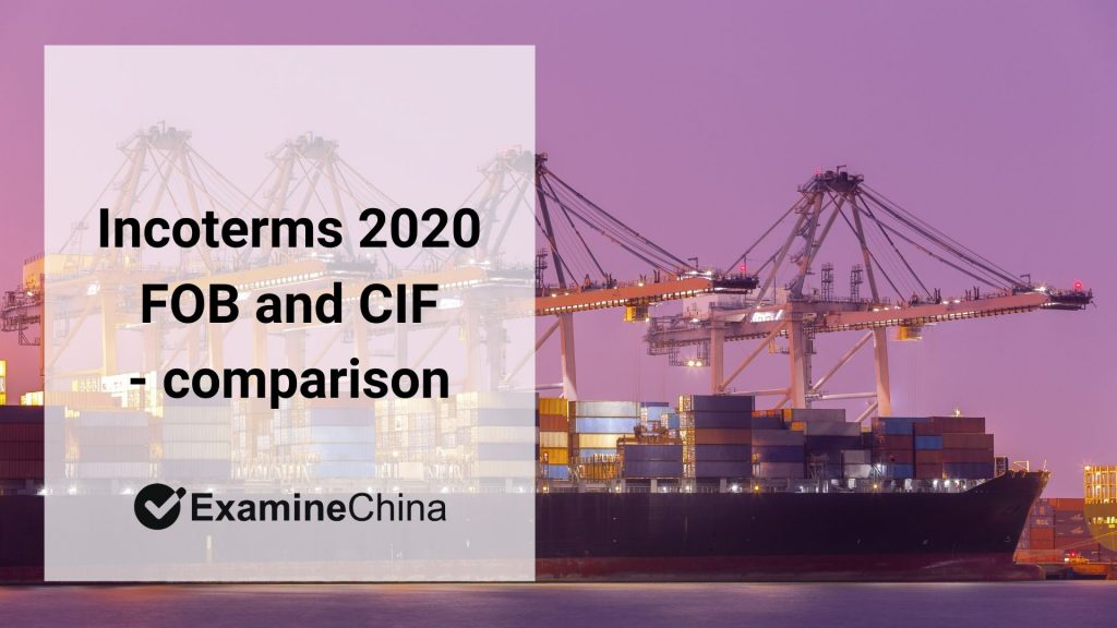 Incoterms 2020 FOB and CIF