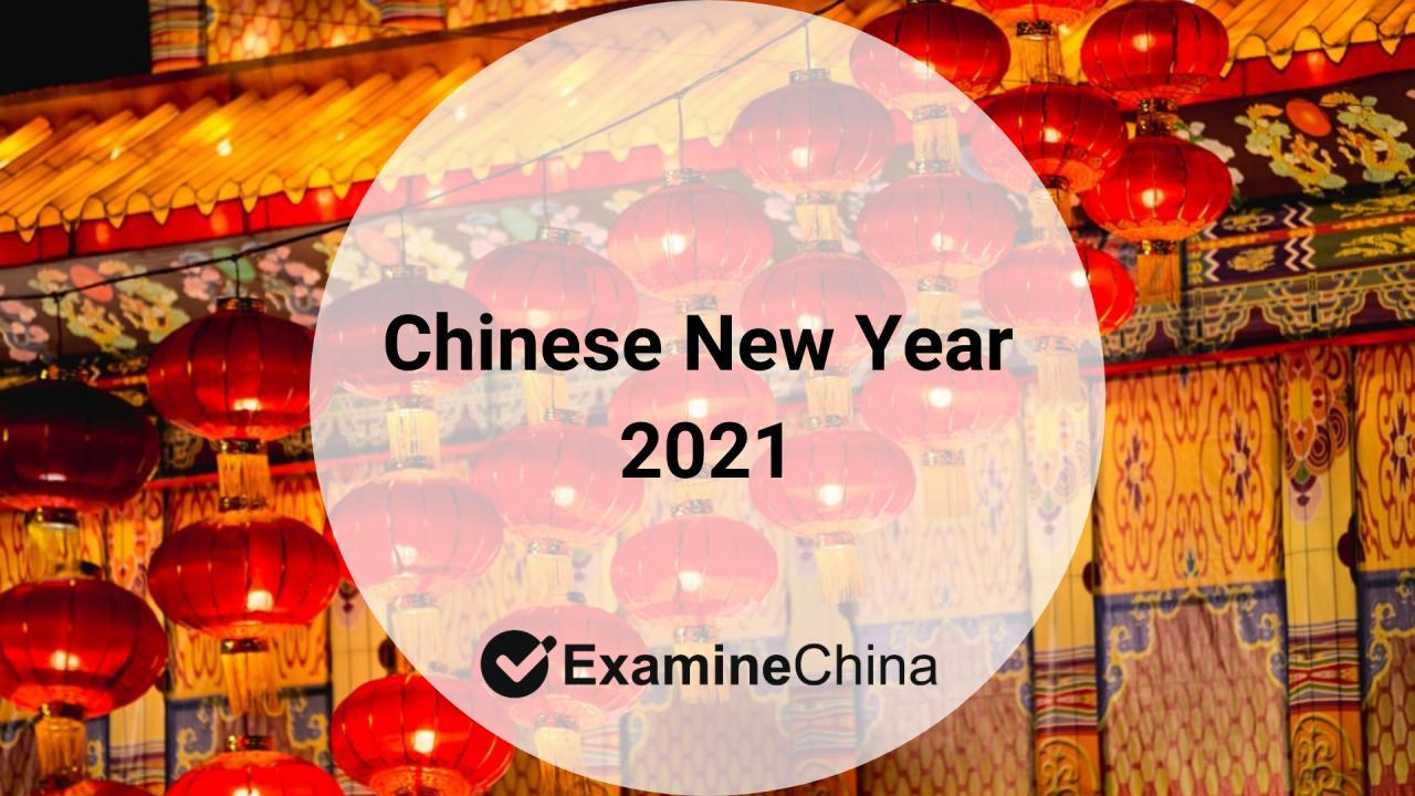 Chinese New Year 2021 - start of the Year of the Ox