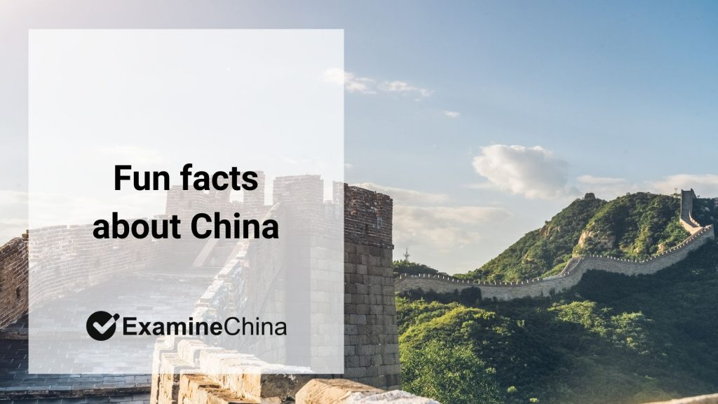 Fun facts about China