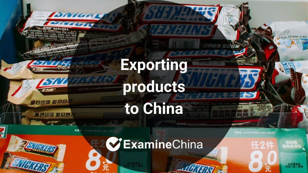 Exporting products to China