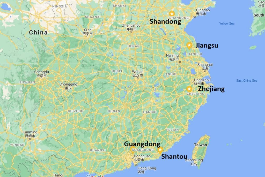 Importing toys from China to the EU manufacturers map