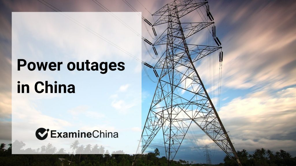 Power outages in China