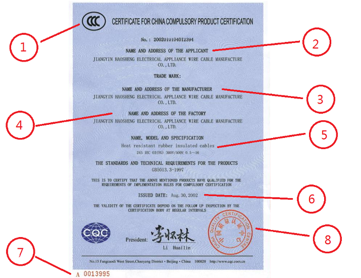 What is a CCC certificate in China?